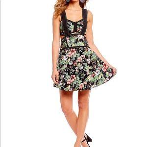 Gianni bini alexie tropical floral corset dress